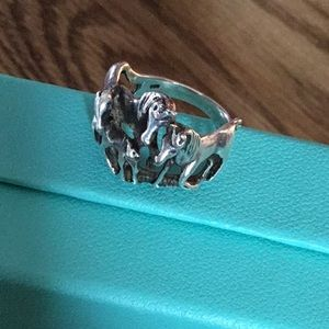 Jewelry - Amazing 925 Stamped Sterling Horse Ring 7.5
